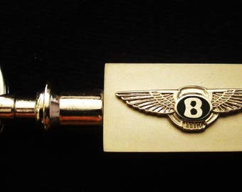 Bentley Silver Valet Key Chain Pull-apart-Key Chain-Free Engraving
