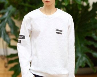 BJD SD17 Where Is My Mind Sweatshirt - White