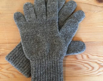 Wool gloves locally grown and made
