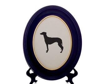 Regal Greyhound Dog Bespoke Framed Paper Cut-Out Silhouette - Custom Design Available