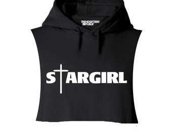 STARGIRL Hoodie, The Weeknd Inspired, Hoodie,Hooded Sweatshirt,Custom,Cropped Hoodie, Hooded Sweatshirt