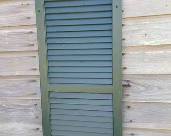 Old antique shabby farm wooden country shutter 55x16 rustic can paint for you