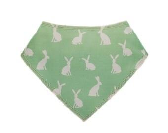 Baby Bandana Drool Bib - easter bunny