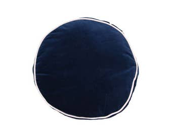 Round Piped Cushion (Navy Blue)
