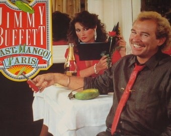 Jimmy Buffett vinyl record album, Last Mango In Paris vintage vinyl record