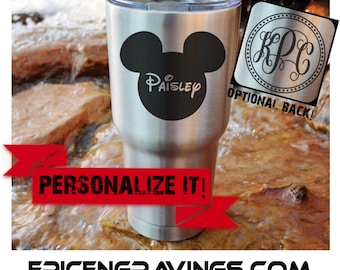 YETI or RTIC Engraved Tumbler/Disney/Disney Yeti/Disney Tumbler/Disney Cup/Disney Trip/Mickey/Mickey with Name/Personalized Gift