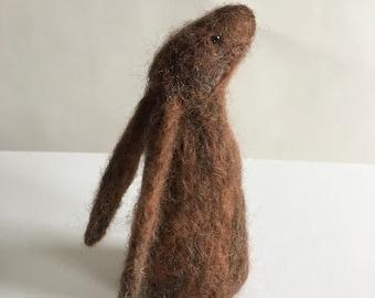 Handmade Needle Felted Moon Gazing Hare