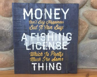 Fishing sign, wooden Fishing sign, Fathers Day Gift