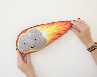 Asteroid Cushion, Meteor, Meteorite, Space Cushion, Kids Decor, Fireball Cushion, Space Lovers