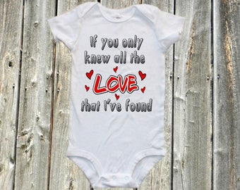 music band onesie - If you only knew all the love that I found. Band baby bodysuit, one-piece shirt - music band shirt