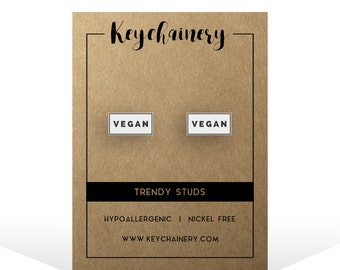 VEGAN Stud Earrings - Vegan  Stud Earrings - Fruit  Stud Earrings - Nickel-free  Stud Earrings - VEGAN AF