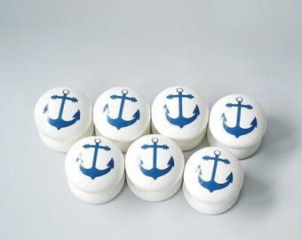 Anchor Drawer Knob, Dresser Pull, Drawer Pull, Room Decoration, Kids Room, Nautical Knobs, Nautical Pulls, Nautical Dresser Pulls.