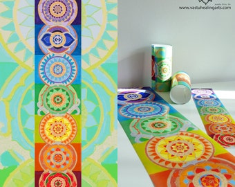 Beautiful Chakra Poster, 7 Chakras Poster, Healing Arts, Yoga Art, Reiki, Zen, Chakra Art