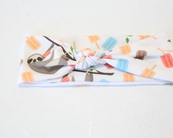 Summer Sloth Headband
