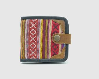 Handmade Hemp/Leather Mens Wallet