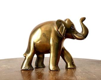 Vintage, 1960's, Mid-Century Modern, Brass, Elephant, Statue