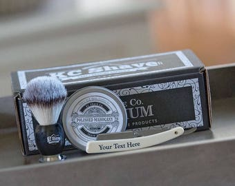 Groomsmen Shave Kit. Nico Straight Razor Kit. Groomsmen Gifts. Fathers Day. Birthday Gift. Groomsmen Shaving Kit. Father Of The Bride.