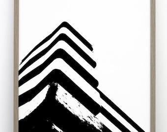 Embassy Court print, Photographic art, Scandinavian poster, Architecture print