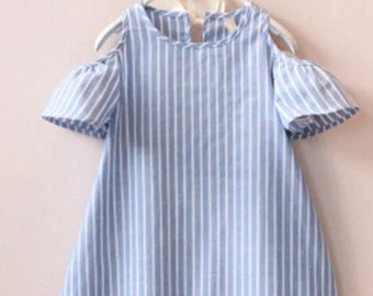 Nautical baby girl stripe dress