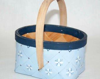 Vintage basket, vintage Swedish berry basket, vintage kitchenware, storage solutions