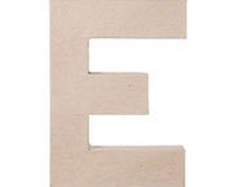 """Paper Mache 12"""" Letter E"""