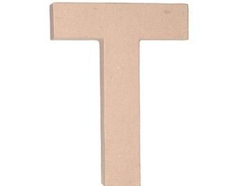 "Paper Mache 12"" Letter T"