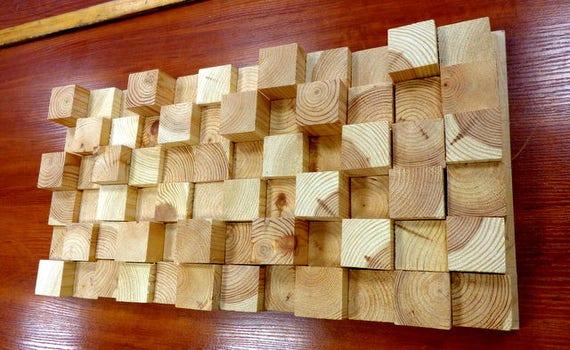 Kunst / Holz Kunst / Holz-Wand-Kunst / Kunst-Holz Wand / Wand