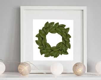 Magnolia Wreath Printable
