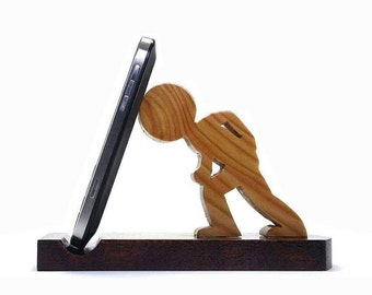 Wooden iphone stand, phone stand, smartphone stand, ipad stand, tablet stand, handmade, wood stand