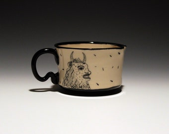 Monster Cup - Espresso Cup - Hand Painted - Creature- 4oz Cup