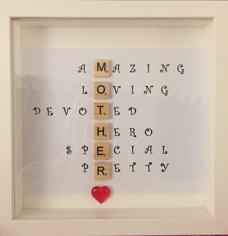 Special scrabble dad frame caring words perfect present for - Deko 18 geburtstag selber basteln ...