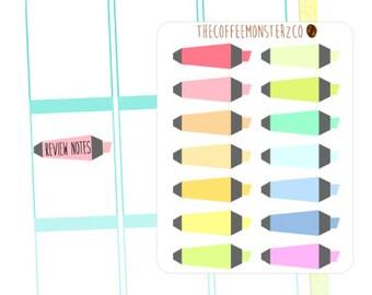 Rainbow Highlighters (erin condren stickers)