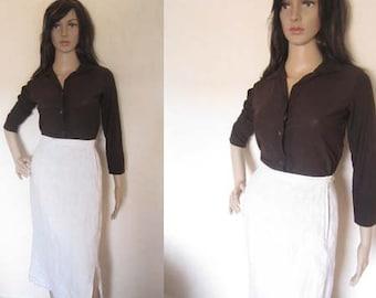 Vintage 80's Rosenorn design skirt skirt high waist Sweden S