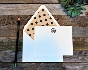 Petite Polka Dot Monogram Stationery Set