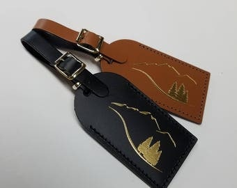 Moving Mountains -  Luggage Tag Gifts - Traveler - Wedding - Birthday & More! Made in the USA!
