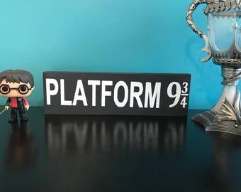 Harry Potter inspired platform 9 3/4 Signs