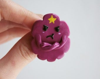 Angry LSP Adventure time pin Cartoon pin Lumpy Space Princess pin Lumpy Space Princess brooch Lump off Oh my Glob Christmas gift