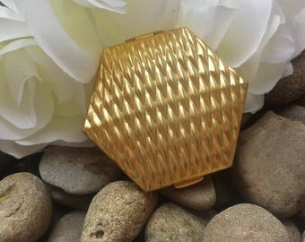 Gold Mirror Compact/vintage compacts/wedding compact/gifts for her