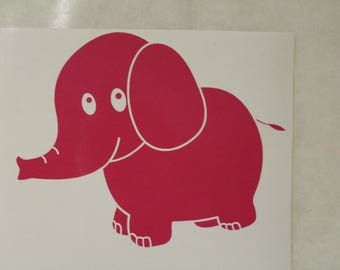 Cute Elephant Decal Any Size Any Colors