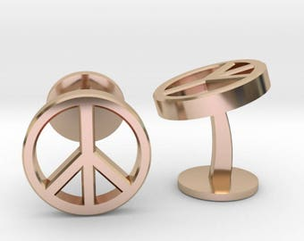 Peace Cufflinks | Wedding Geek & Gaming Cuff links | Available as Sets