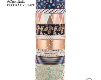 Hobby Lobby- the paper studio-Navy & Copper Aztec Washi Tape Tube