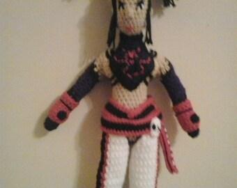 Juri han Street Fighter Amigurumi Plush Doll