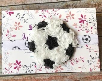 Soccer Baby Headband/Soccer Headband/Baby Headband/Newborn Headband/Toddler Headband/Sports Headband/Girls Headband/Baby Headbands/Soccer