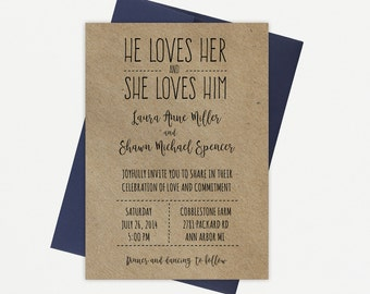 Rustic Country, Westen, Casual, Wedding Invitation Suite, Printable Template
