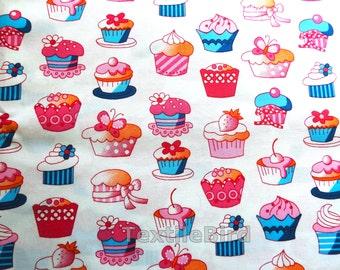 Cupcake large, pink-blue - long quarter