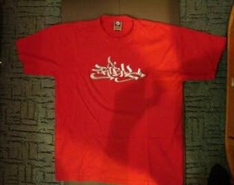TRIBAL Gear shirt, vintage red hip hop t-shirt, 90s hip-hop clothing, gangsta rap, lowrider, LA, Los Angeles, chicano, og, size XL