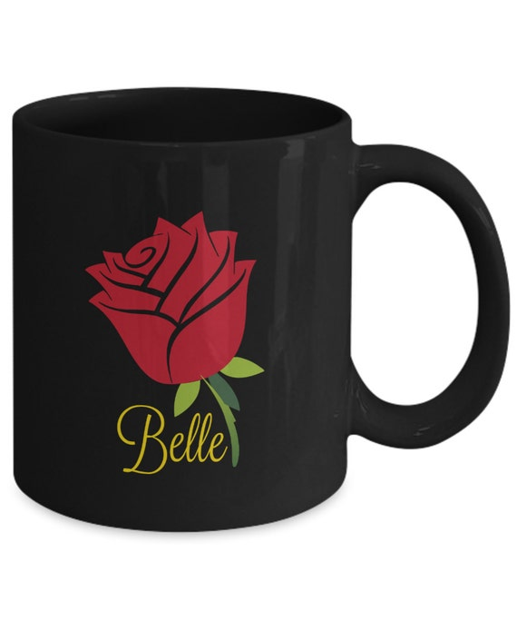 Belle Enchanted Rose Mug Beauty And The Beast Inspired Fan