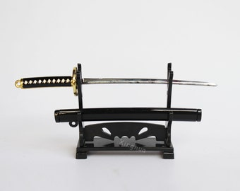 """1/6 Scale Japanese Samurai Sword With Rack Model Metal Fits 12""""Action Figures"""