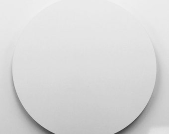 "17.50"" Dia White Aluminum Circle Metal Sign Blanks - No Holes"