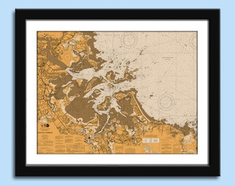 Boston MA - Boston MA Chart - Nautical Chart Decor